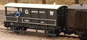 377-375GG Exclusive  Graham Farish 20 Ton Toad Brake Van (W Goods Guard) GWR Grey (Large Logo) (1)